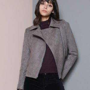 james jeans sueded taupe jacket